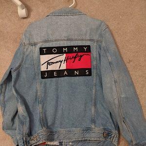 """Vintage 90s Tommy Hilfiger """"Big Flag"""" Denim Jacket"""